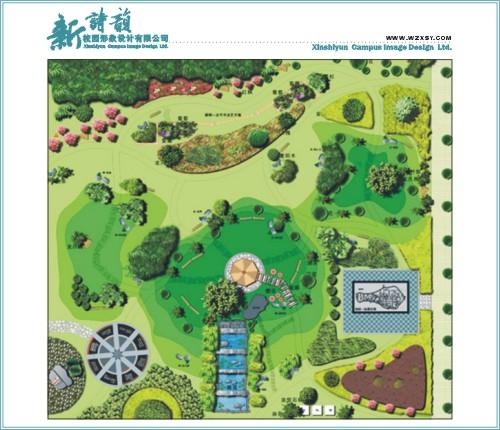 校园植物平面图